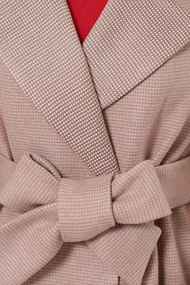 Женское шерстяное пальто осеннее персикового цвета, фото 3