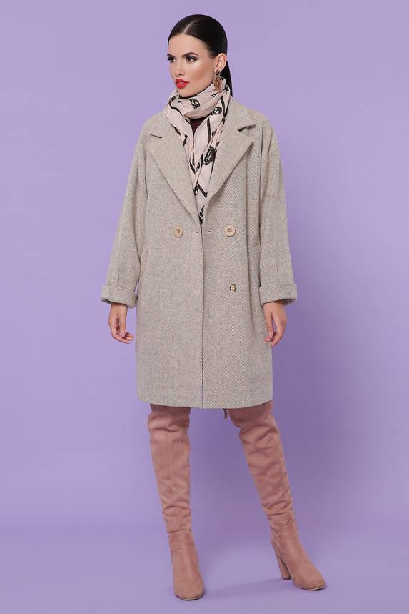 Женское демисезонное пальто оверсайз шерстяное, фото 2