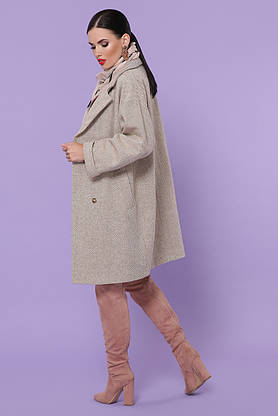 Женское демисезонное пальто оверсайз шерстяное, фото 3