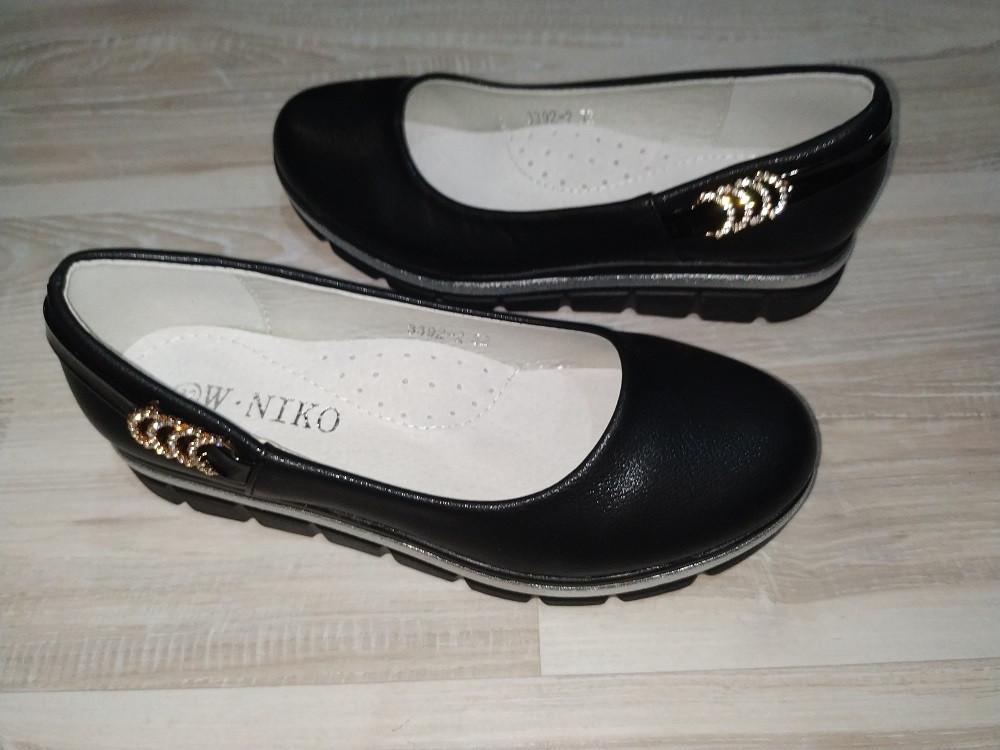 Туфли на девочку черные арт 3392-2 размеры 33-37 W.NIKO.