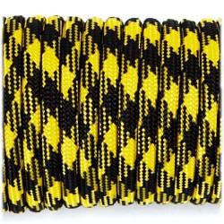 Паракордовый шнур Paracord Type III 550, black yellow camo #043, 1м.