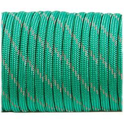 Паракордовый шнур Paracord reflective, emerald green #r3086, 1м.