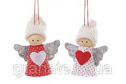 """Новогоднее украшение, подвеска """"Куколки"""" 10 см, 24 шт."""