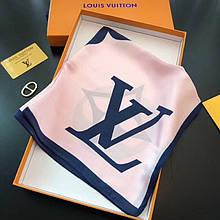 Платок Луи Витон шелковый 50х50