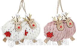 """Новогоднее украшение, подвеска """"Олени"""" 10 см, 24 шт."""