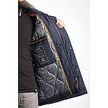 Мужская куртка Camel Active 420632-43 удлиненная темно-синяя, фото 4