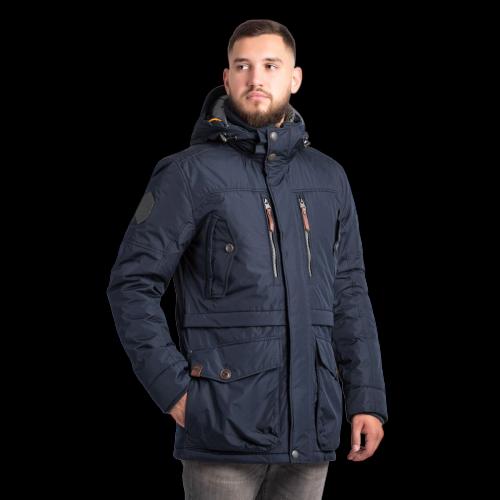 Мужская куртка Camel Active 420632-43 удлиненная темно-синяя
