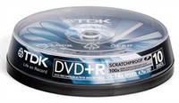 Диски TDK DVD+R 4,7Gb 16x Cake 10 pcs ScratchProof