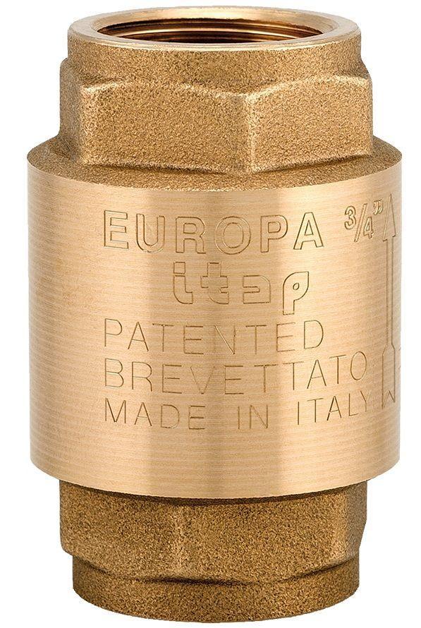 Клапан обратного хода воды ITAP EUROPA 100 с латунным штоком 1/2'