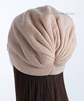 Утепленная вязаная шапочка Кармелла цвет жемчуг