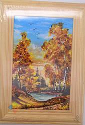 Картины из янтаря, размер на выбор. (12х15см)