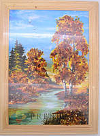 Картины из янтаря, размер на выбор. (15х21см)