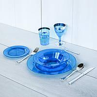 Одноразовая посуда для праздника. Полная сервировка стола 90 шт 6 чел Capital For People