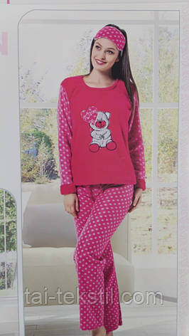 Пижама женская махра+флис и повязка для сна STAR 1003, фото 2