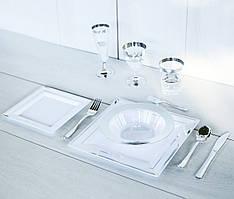 Одноразовая посуда для праздника. Полная сервировка стола 96 шт 6 чел. Capital For People