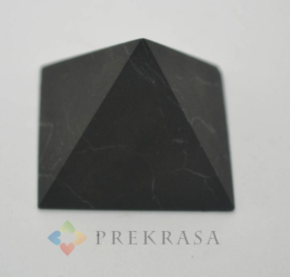 Пирамида из шунгита, размер на выбор. (50*50) 100гр.