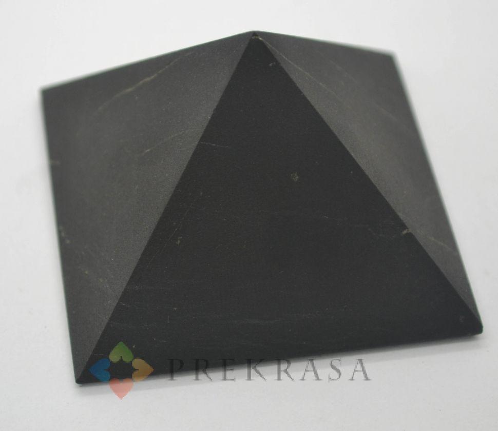 Піраміда з шунгита, розмір на вибір. (58х58х33мм)