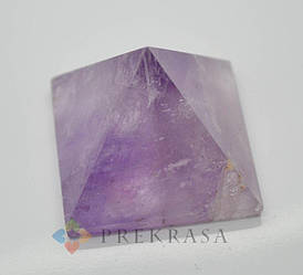 Пирамида из натурального камня, 40х40мм цвет на выбор. (аметист)