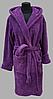 Халат махровый женский короткий с капюшоном  Welsoft (TM Zeron), фиолетовый Турция