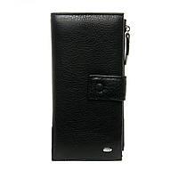 Женский кожаный кошелек 9,5*19*3 черный, фото 1