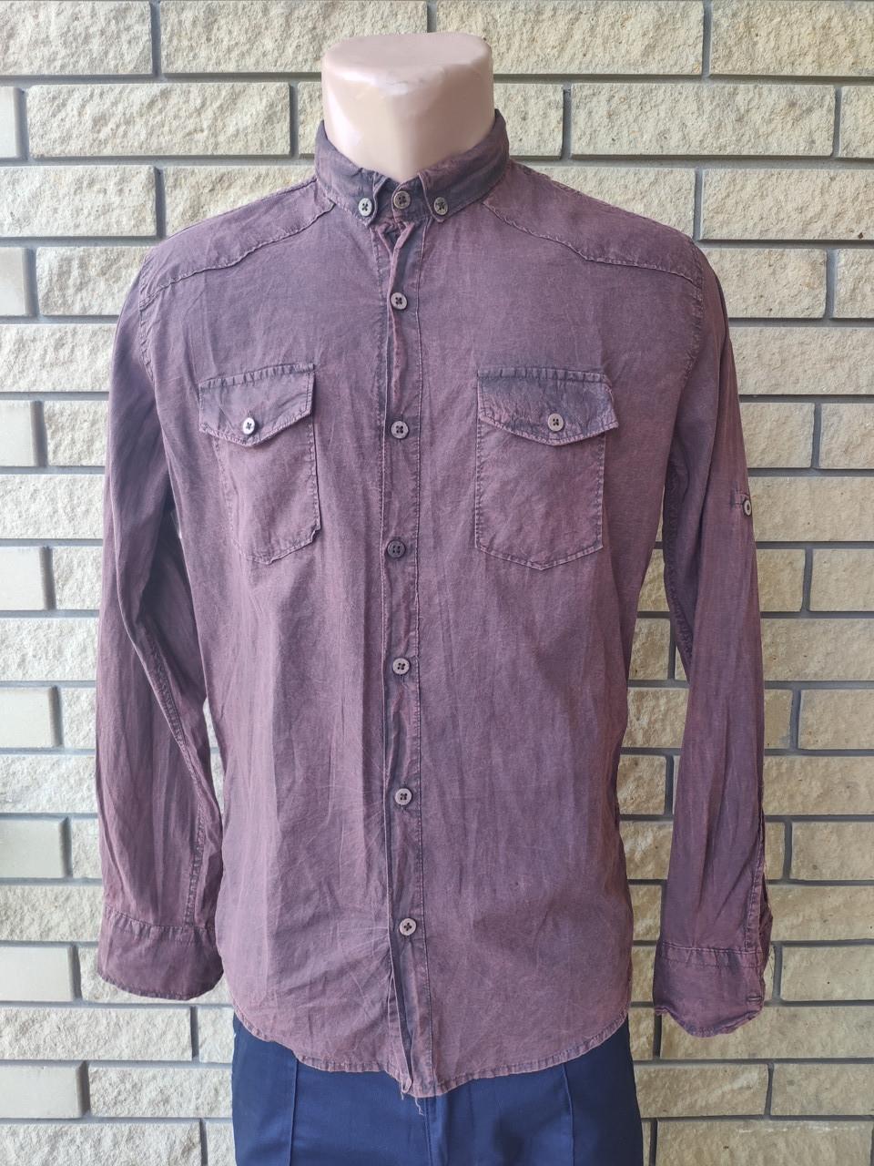 Рубашка мужская коттоновая брендовая высокого качества EL ZARA, Турция