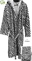Махровый женский халат с капюшоном +Подарок