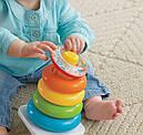 Пирамидка Фишер прайс Fisher Price для малышей погремушка Rock-a-stack Rfsh, фото 6