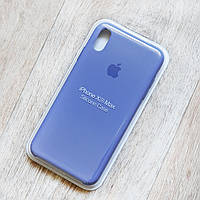 Силиконовый чехол Silicone Case для Apple iPhone XS Max (lavender gray)