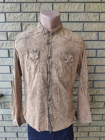 Рубашка мужская коттоновая брендовая высокого качества EL ZARA, Турция, фото 2