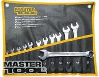 MasterTool  Ключи рожково-накидные набор 15 шт (6-19 & 22) PROF DIN3113 пожизненная гарантия 72-0115