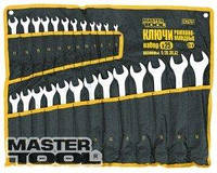MasterTool  Ключи рожково-накидные набор 20 шт ролл (6-19,21,22,24,27,30,32) 71-2120