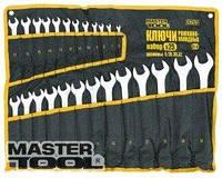 MasterTool  Ключи рожково-накидные набор 25 шт ролл (6-28,30,32) 71-2125
