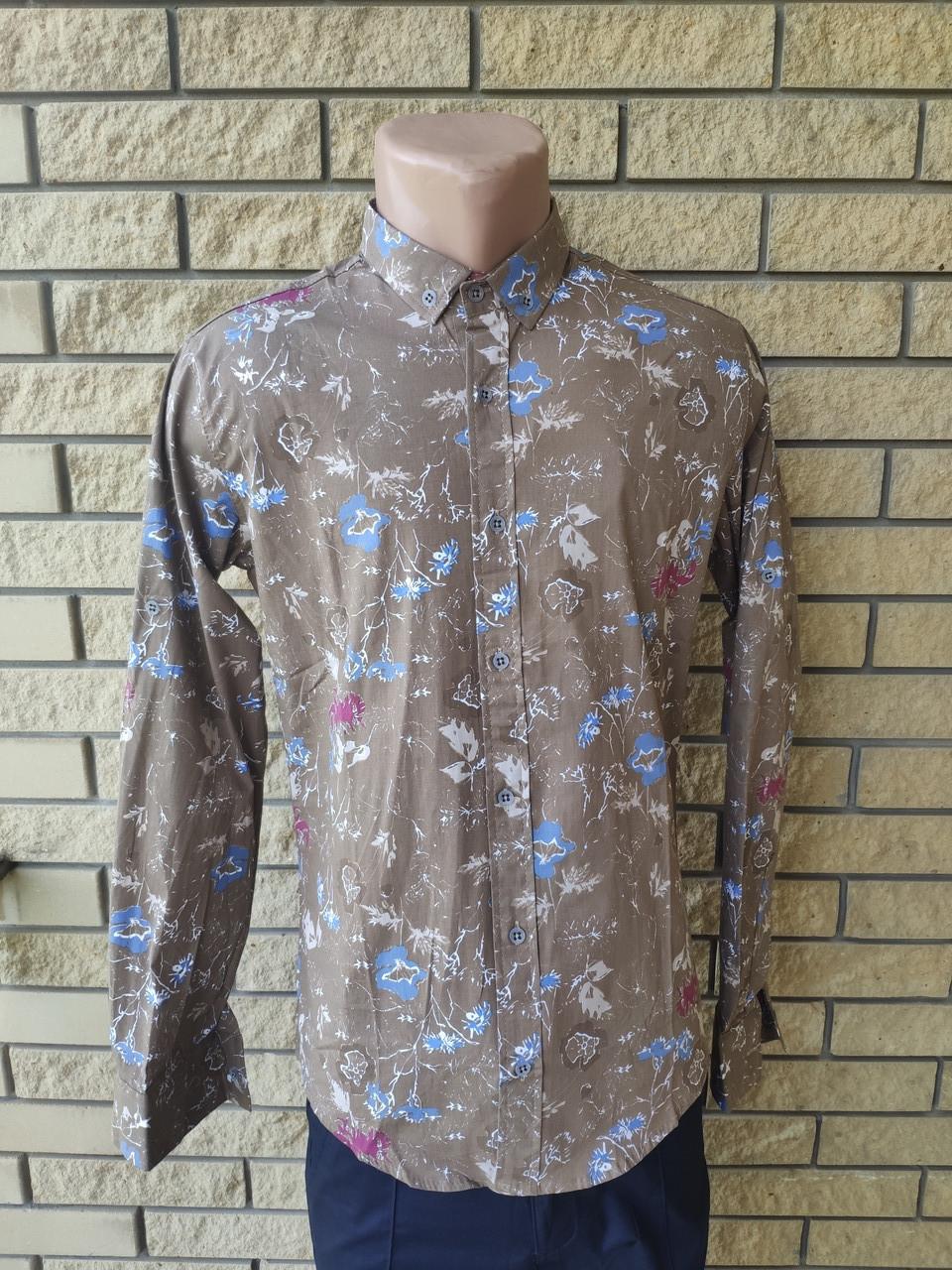 Рубашка мужская стрейчевая коттоновая брендовая высокого качества EL ZARA, Турция