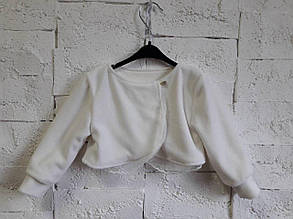 Нарядное болеро для девочки мир бэби-УКРАИНА Украина 9008 Белый 98, , белый,