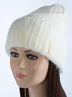 Удлиненная шапка-колпак Камбрия цвет молочный