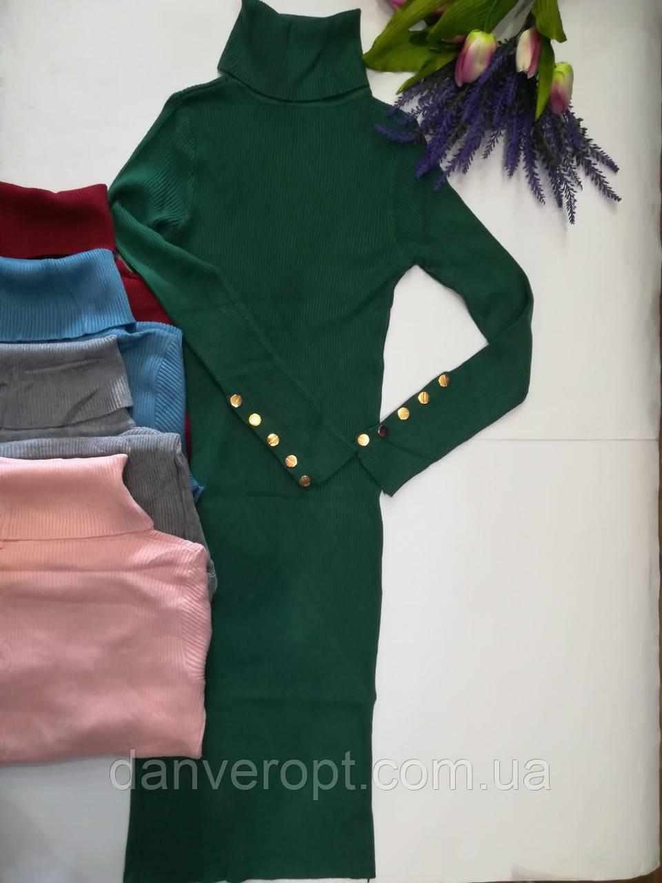 Платье женское стильное кашемировое размер универсальный 42-46 купить оптом со склада 7км Одесса