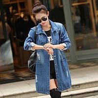 Джинсовая куртка средней длинны, фото 1