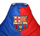 Безкаркасне крісло груша sportkreslo Барселона Екокожа розмір XL 110*130см синій+червоний, фото 4