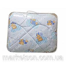 Детское зимнее одеяло холлофайбер 105х135. Хлопок., фото 2