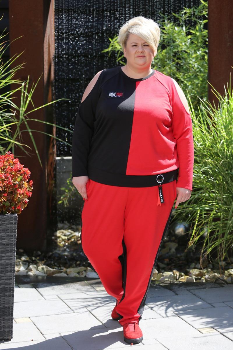Женский спортивный костюм Невада цвет красный / размер 42-70