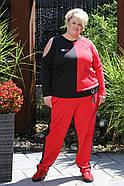 Женский спортивный костюм Невада цвет красный / размер 42-70, фото 2