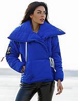 Зимняя синяя куртка на завязках S-M L-XL