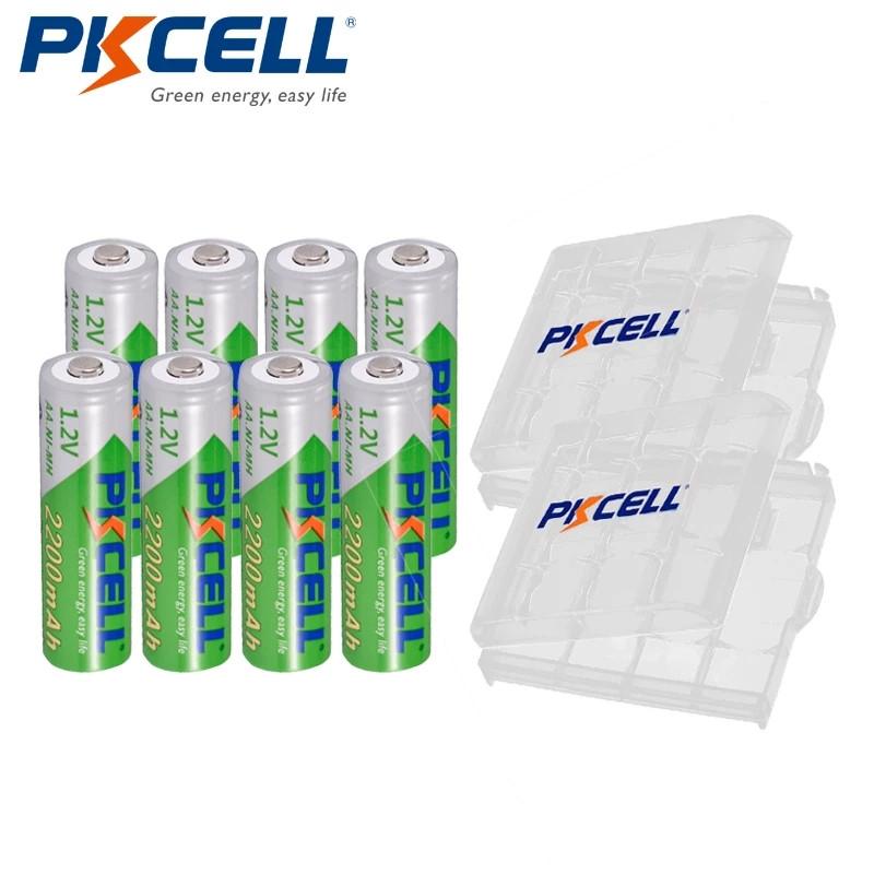 Аккумуляторы Pkcell Ni-Mh AA 2200mAh оригинал упаковка 8шт + Box