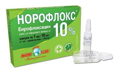 Норофлокс 10% оральный 1мл №10