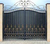 Ворота и заборы с элементами ковки