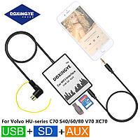 USB AUX MP3 адаптер для штатной магнитолы VOLVO эмулятор CD чейнджера