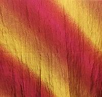 Портьерная ткань жатка радуга желто-оранжевого цвета