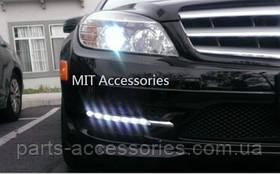 Mercedes C-Class W204 C W 204 LED діоди ходові вогні в AMG бампер до рестайлінгу замість туманок