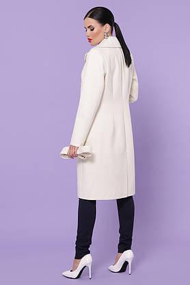 Белое кашемировое пальто демисезонное, фото 3