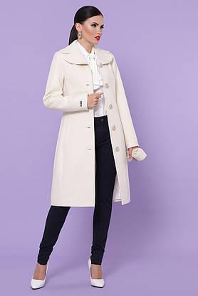 Белое кашемировое пальто демисезонное, фото 2